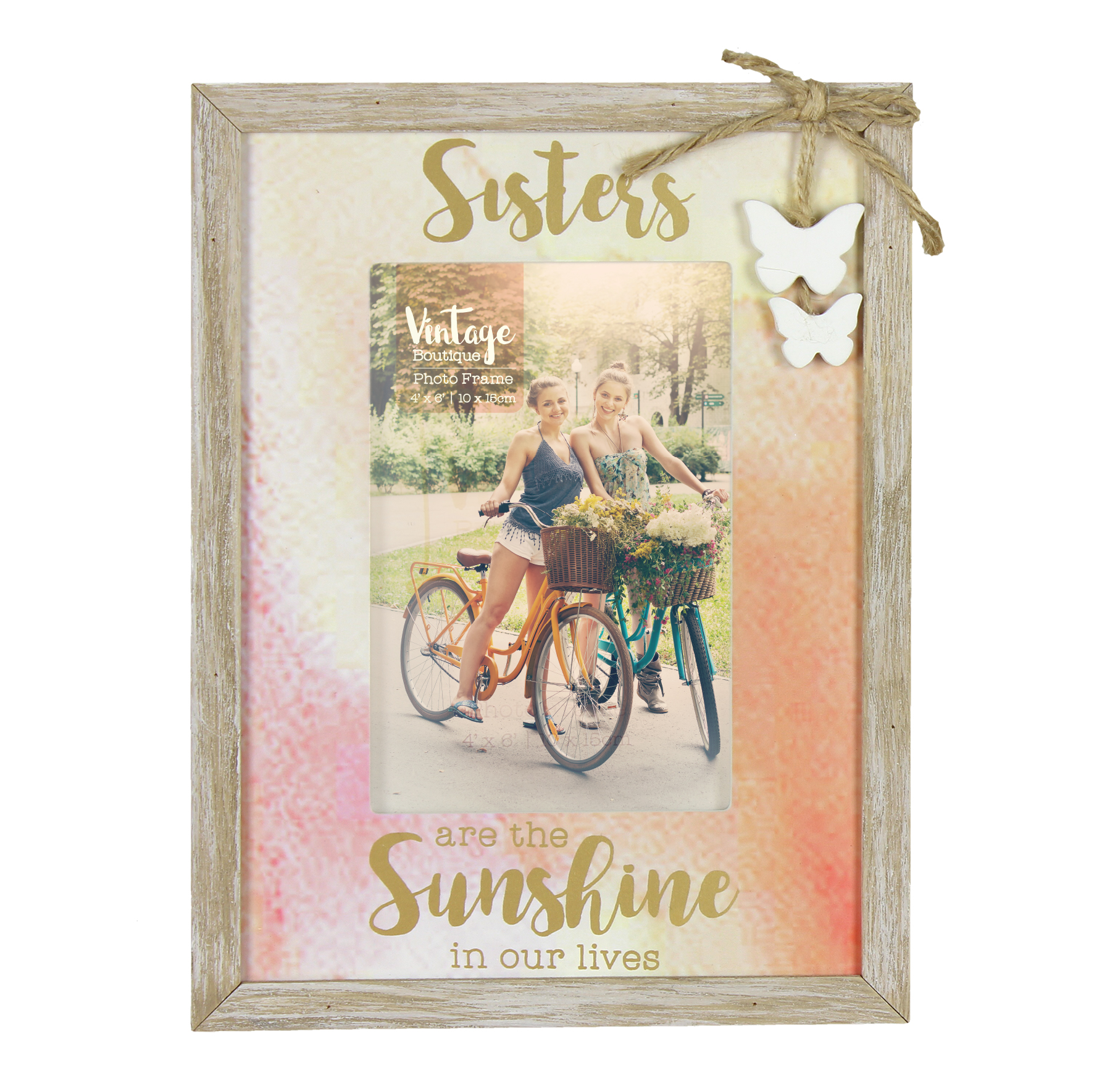 Sisters are the sunshine in our lives frame